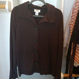 Talbot's button down knit jacket.